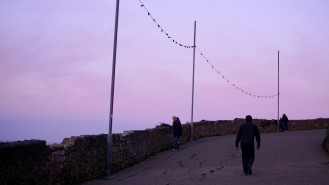 Ireland Bray Sunset walking path